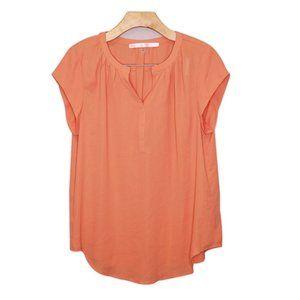 NWOT ModCloth Peach Blouse Sz L